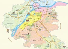 Map of Suburban Area